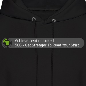 Achievement - Get Stranger to Read Your Shirt - Men's Hoodie