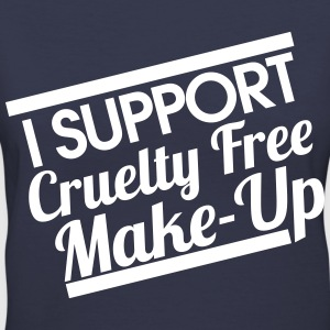 I SUPPORT CRUELTY FREE MAKE-UP - Women's V-Neck T-Shirt