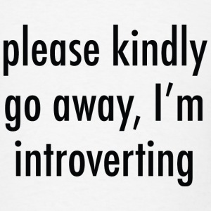 Please Kindly Go Away, I'm Introverting - Men's T-Shirt