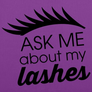 Ask me about my lashes - Tote Bag