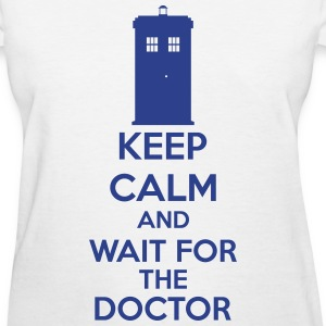 Keep Calm And Wait For The Doctor Women's T-Shirts - Women's T-Shirt