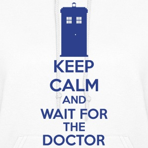 Keep Calm And Wait For The Doctor Hoodies - Women's Hoodie