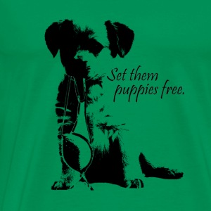 Set them puppies free Tee - Men's Premium T-Shirt
