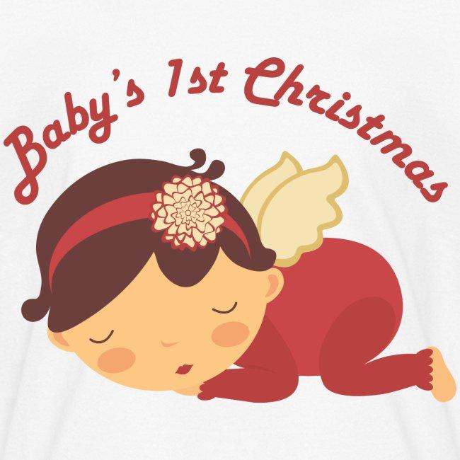 babys 1st christmas angel cute kids tshirt