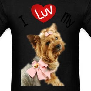 I LUV MY YORKIE Women's T-Shirts - Men's T-Shirt