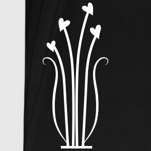 hearts flowers vines cute decoration T-Shirts - Men's Premium T-Shirt