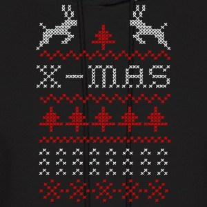 X-mas ugly sweater design for green Hoodies - Men's Hoodie
