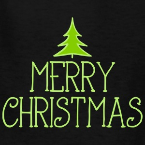 merry christmas with tree 2c Kids' Shirts - Kids' T-Shirt