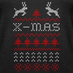 X-mas ugly sweater design for green Tanks