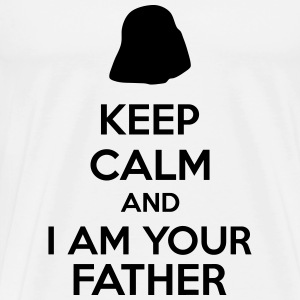 Keep calm and i am your father t shirts men s premium t shirt
