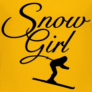 Snow Girl Children's Ski T-Shirt (Yellow/Black) - Kids' Premium T-Shirt