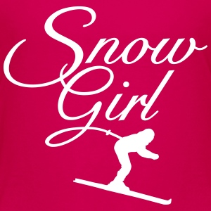 Snow Girl Children's Ski T-Shirt (Pink/White) - Kids' Premium T-Shirt