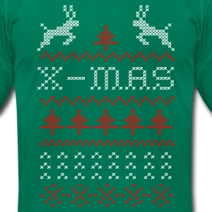 X-mas ugly sweater design for green T-Shirts - Men's T-Shirt by American Apparel