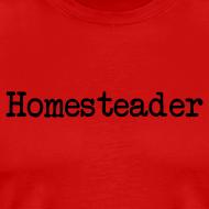 Design ~ Homesteader - black text