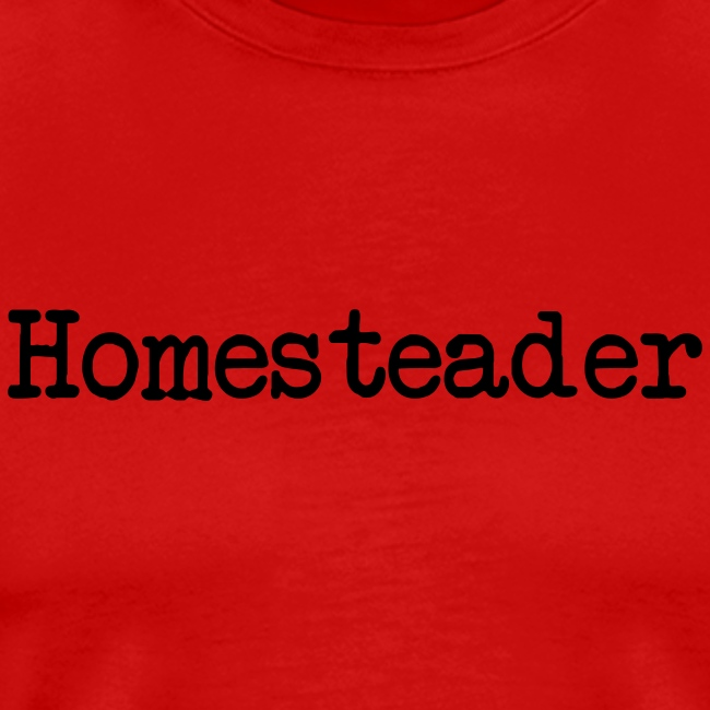 Homesteader - black text