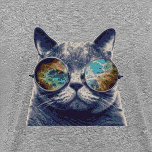 Glasses cat T-Shirts - Men's Premium T-Shirt
