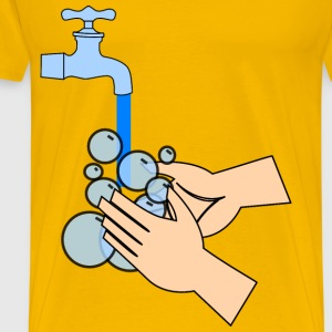 washing hands - Men's Premium T-Shirt