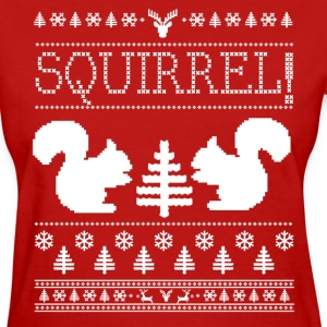 Squirrel Ugly Sweater Women's T-Shirts - Women's T-Shirt