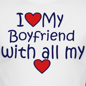 I LOVE MY BOYFRIEND WITH ALL MY HEART - Men's Long Sleeve T-Shirt by Next Level