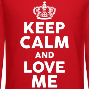 Keep Calm and Love Me Long Sleeve Shirts - Crewneck Sweatshirt