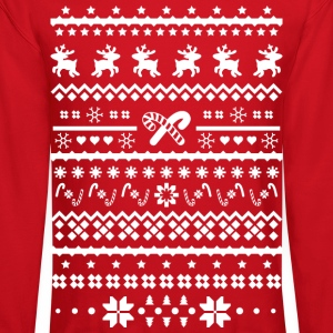 christmas reindeer Long Sleeve Shirts - Crewneck Sweatshirt