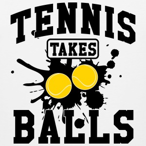 Tennis takes balls Tank Tops - Men's Premium Tank