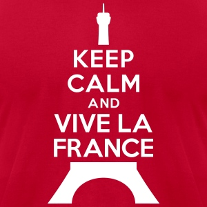 Keep calm vive la France T-Shirts - Men's T-Shirt by American Apparel