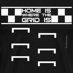 HomeGrid_white T-Shirts - Men's Premium T-Shirt