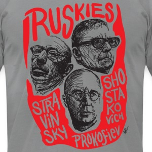 Ruskies-Russian composers - Men's T-Shirt by American Apparel