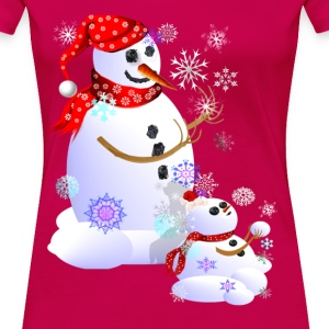 Daddy and Baby Snow - Women's Premium T-Shirt