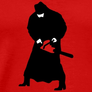 Priest with a chainsaw - Men's Premium T-Shirt