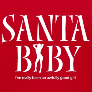 Santa Baby 3b - Women's V-Neck T-Shirt