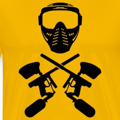 Paintball mask and gun Shirt