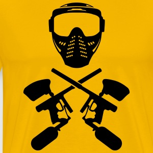 Paintball mask and gun Shirt - Men's Premium T-Shirt