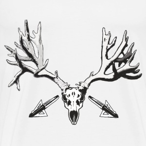Broad head buck deer skull - Men's Premium T-Shirt