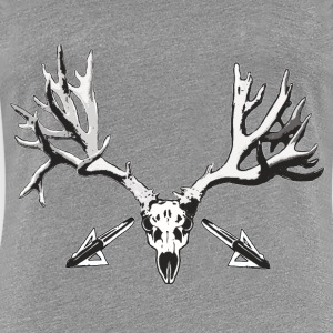 Broad head buck deer skull - Women's Premium T-Shirt