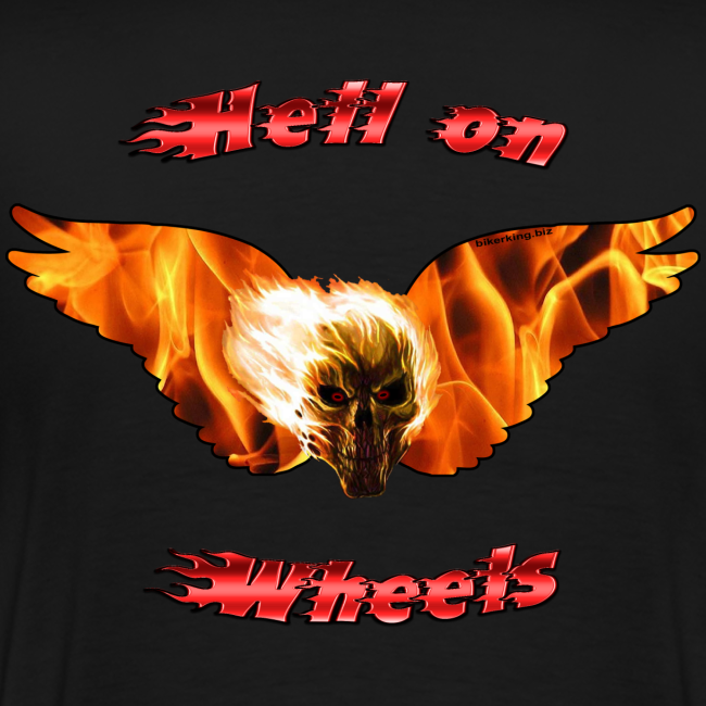 Mens Premium T Hell on Wheels (Back)