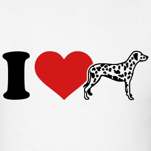 I love Dalmatian T-Shirts - Men's T-Shirt