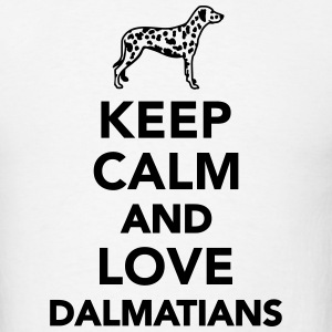 Keep calm and love dalmatians T-Shirts - Men's T-Shirt