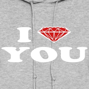 diamond love Hoodies - Women's Hoodie