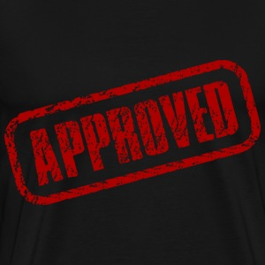 red approved stamp - Men's Premium T-Shirt