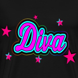 Diva with Stars - Men's Premium T-Shirt