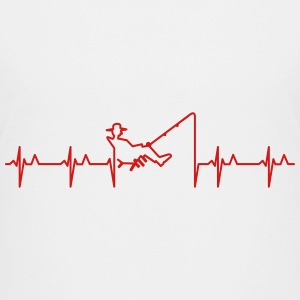 My heart beats for fishing (1c) Kids' Shirts - Kids' Premium T-Shirt