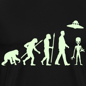 evolution_of_man_alien_112014_a_1c T-Shirts - Men's Premium T-Shirt