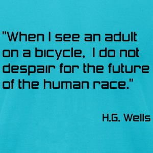 Bicycle Hope for Humanity - Men's T-Shirt by American Apparel