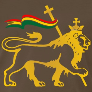 lion, reggae, king, dubstep, rasta, flag, crown, r - Men's Premium T-Shirt