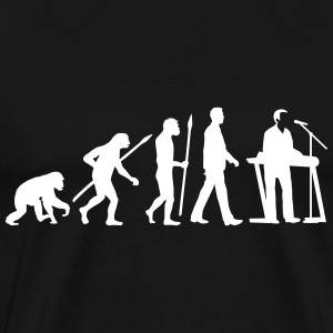 evolution_of_man_keyborder_112014_a_1c T-Shirts - Men's Premium T-Shirt