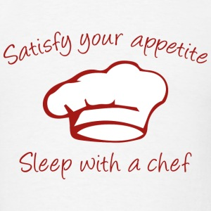 Sleep With A Chef - Men's T-Shirt