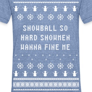 Ugly Sweater | Ballin - Unisex Tri-Blend T-Shirt by American Apparel