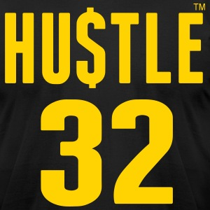 HUSTLE 32 T-Shirts - Men's T-Shirt by American Apparel